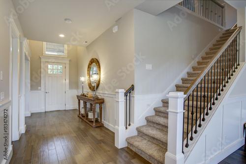 Fotografie, Obraz  Fabulous foyer features a staircase