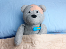 Injured Teddy Bear Plasters He...