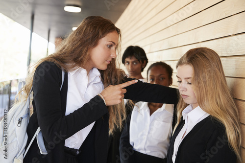 Photo  Teenage Girl Being Bullied At School