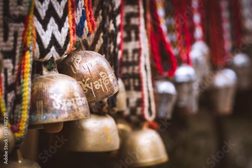 Tableau sur Toile Nepal Yak Glocke Mount Everest Tibet