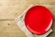 canvas print picture - Empty red plate