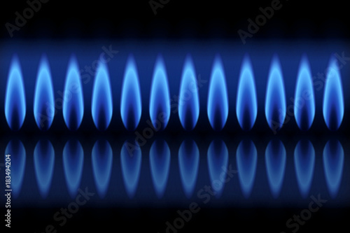 Flammes gaz naturel Canvas Print
