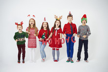 Happy Children Singing Christm...