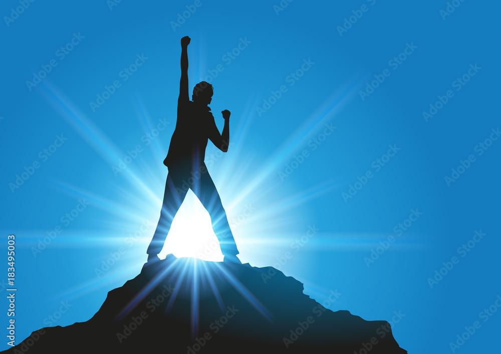 Fototapeta succès - réussite - gagner - compétition - leadership - concept - challenge - gagnant - vainqueur - symbole