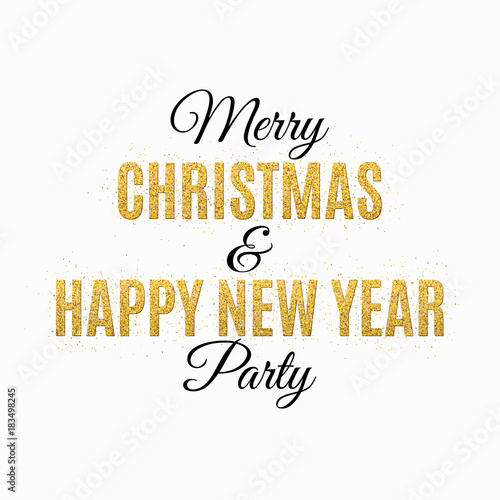 poster for christmas and new year party invitation card the text is made of