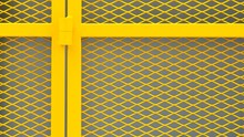 Yellow Cage Metal Wire - Backg...