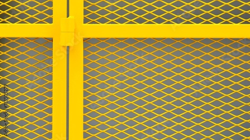 Fotografie, Obraz  yellow cage metal wire - background