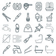 Set of 25 drop outline icons