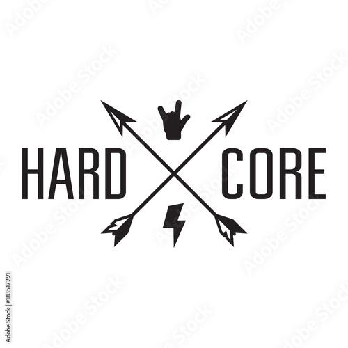 Fényképezés Hard core badge