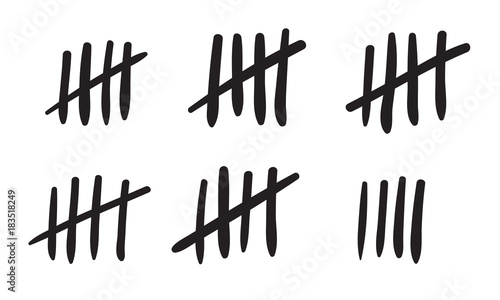 Valokuva Tally marks count or prison wall sticks lines counter