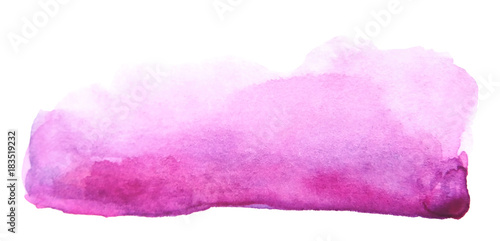 Fotografía  Watercolor artistic brush stroke isolated on white background
