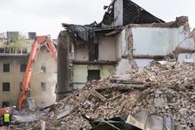 Half Collapsed Brick House Cov...