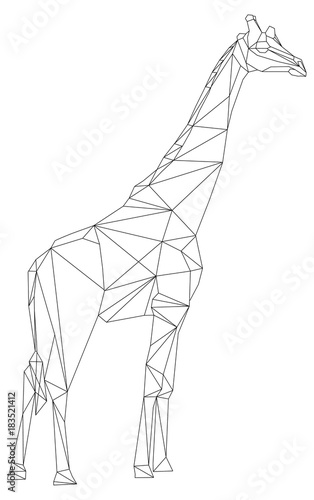 giraffe geometric style