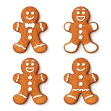 Set Of Gingerbread Man Christm...