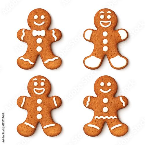Set Of Gingerbread Man Christmas Cookies Buy This Stock