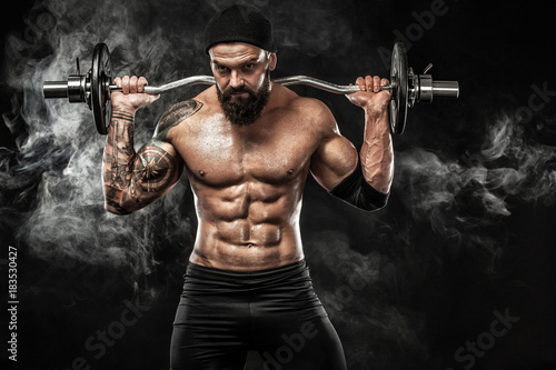 Muscular young fitness spor...