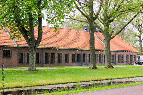 """Photo  Early 19th Century Prison Complex in the """"Maatschappij van Weldadigheid"""", the fo"""
