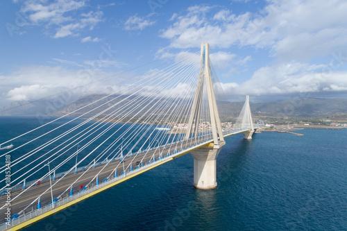 Valokuva  aerial view of the Charilaos Trikoupis bridge Rio-Antirio