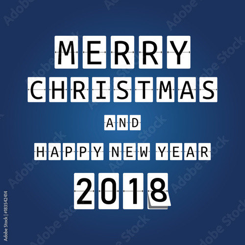 happy new year card for 2018 mechanical timetable for new year merry christmas and