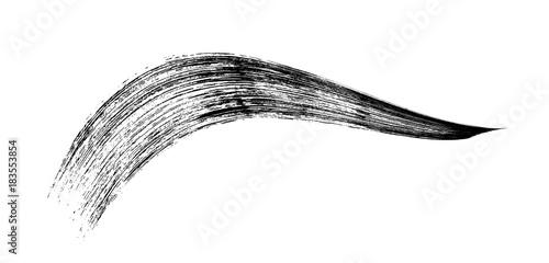 make-up cosmetic mascara brush stroke on white. Vector Wallpaper Mural