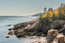 Autumn Colors On Rocky Maine Coast