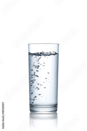 Papiers peints Eau Water glass isolated on white background with clipping path included