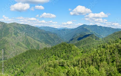 Fototapeta View of mountains from Mount Camel. Altai Republic, Russia obraz na płótnie