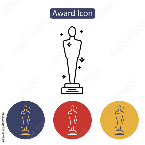 Fotografie, Obraz  Vector Academy Awards icon.