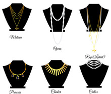 Types Of Necklaces By Length