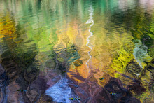 Autumn River. Colorful Trees R...