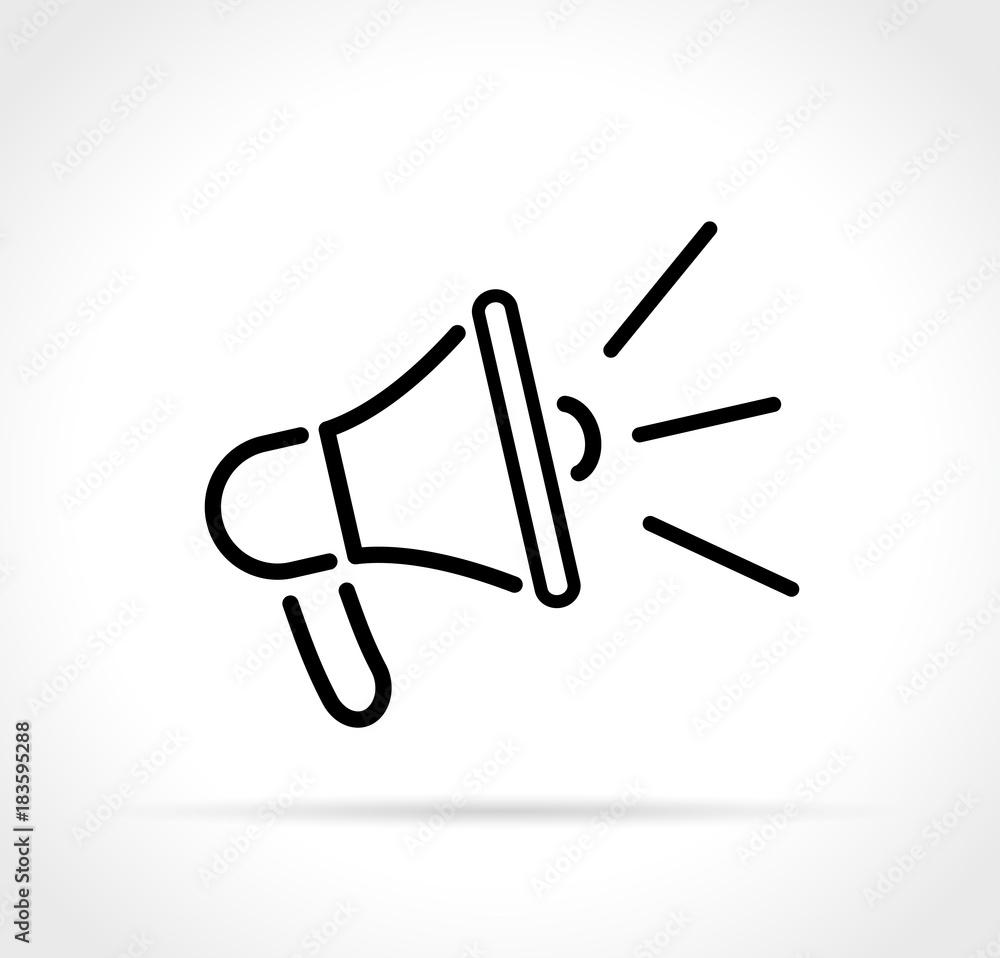 Fototapeta loud speaker icon on white background