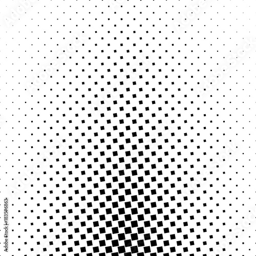 Monochromatic abstract square pattern background - black and white geometrical vector illustration from angular squares Wall mural