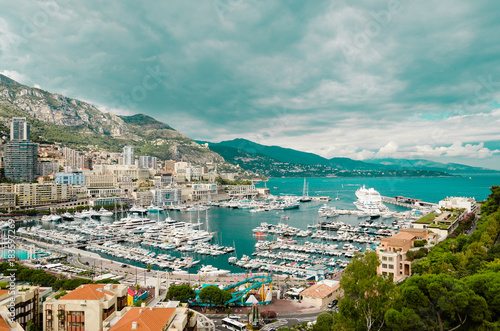 Photo Stands Caribbean Harbour of Monaco