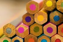 Heap Of Color Wooden Pencil Ba...