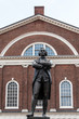 Samuel Adams monument statue near Faneuil Hall in Boston Massachusetts USA
