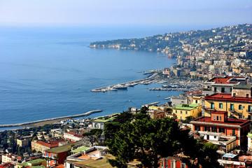 FototapetaNapoli, veduta del porto di Mergellina e Posillipo da Castel sant'Elmo.