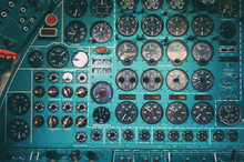 Control Panel In A Old Ussr Pl...