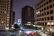 Houston Skyline Night Long Exposure