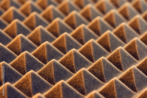 Fotografia, Obraz  Macro of acoustic foam panel background, toned image