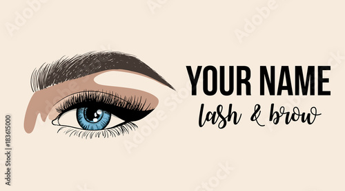 Lash & Brow business card or logo template  Business card