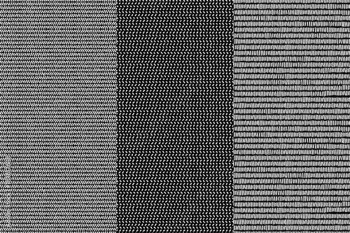Photo  Simple black and white doodle lines herringbone and striped geometric seamless p