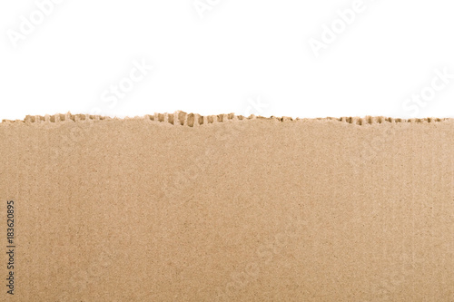 Torn cardboard Paper with space for text Fotobehang