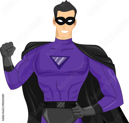 Man Super Hero Illustration Fototapeta
