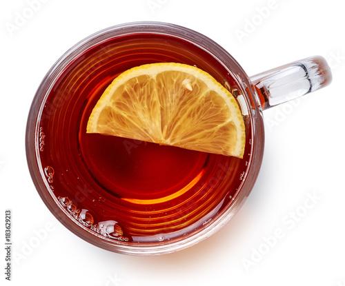 Staande foto Thee Glass cup of black tea