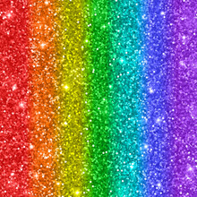Multicolored Rainbow Glitter Background. Vector