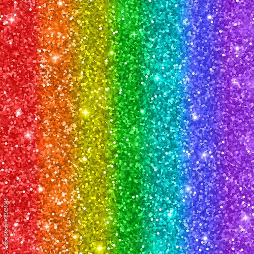 Obraz Multicolored rainbow glitter background. Vector - fototapety do salonu