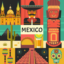 Mexico Travel Poster Concept. ...