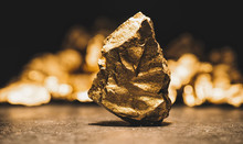 Big Gold Nugget In Front Of A ...