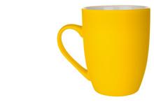 Empty Yellow Mug Isolated On W...