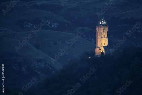 Fotografie, Obraz  Blue Hour at the Sir William Wallace Monument